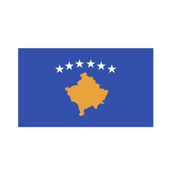 Bügelbild Kosovo Flagge