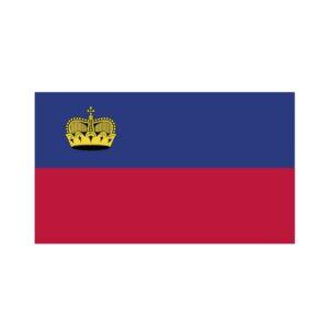 Bügelbild Liechtenstein Flagge
