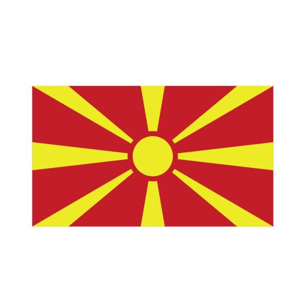 Bügelbild Mazedonien Flagge