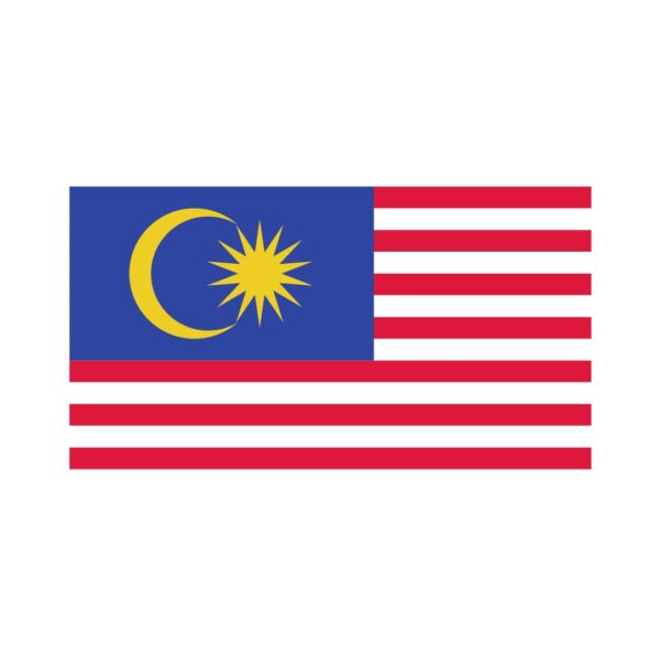 Bügelbild Malaysia Flagge