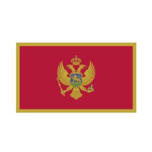 Bügelbild Montenegro Flagge