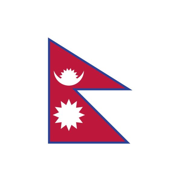 Bügelbild Nepal Flagge