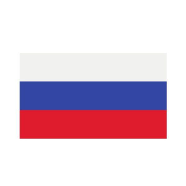 Bügelbild Russland Flagge