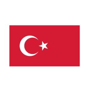 Bügelbild Türkei Flagge