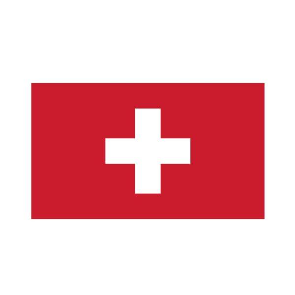 Bügelbild Schweiz Flagge