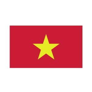 Bügelbild Vietnam Flagge
