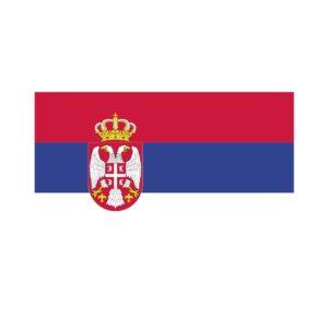 Bügelbild Serbien Flagge