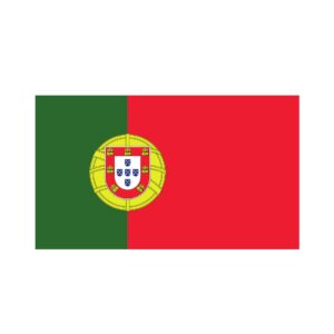 Bügelbild Portugal Flagge