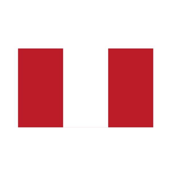 Bügelbild Peru Flagge