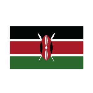 Bügelbild Kenia Flagge