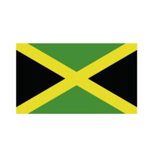 Bügelbild Jamaika Flagge