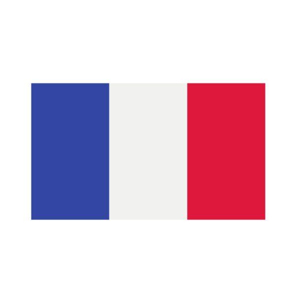 Bügelbild Frankreich Flagge