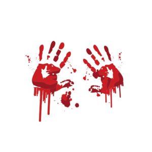 Bügelbild Bloody Hands