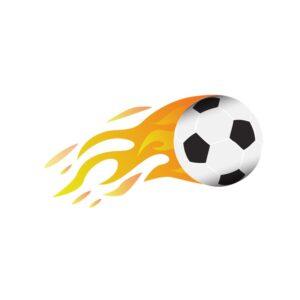 Bügelbild Fire Soccer