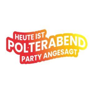 Bügelbild Heute ist Polterabend - Party angesagt