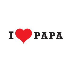 Bügelbild I Love Papa