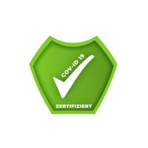 Bügelbild GEIMPFT Symbol