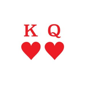 Bügelbild King Queen HEART