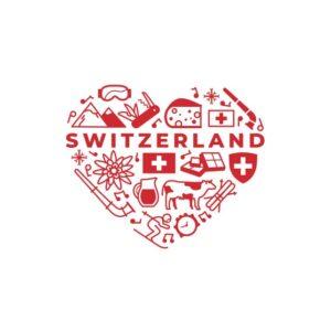 Bügelbild Switzerland Love
