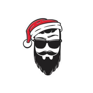 Bügelbild Hipster Santa