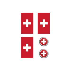 Bügelbilder Set Schweiz
