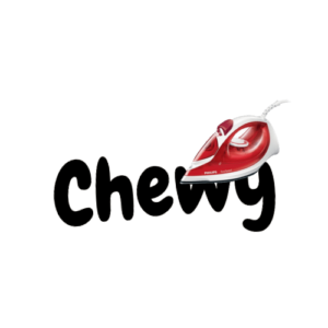 """Wunschtext """"Chewy"""" als Bügelschrift"""
