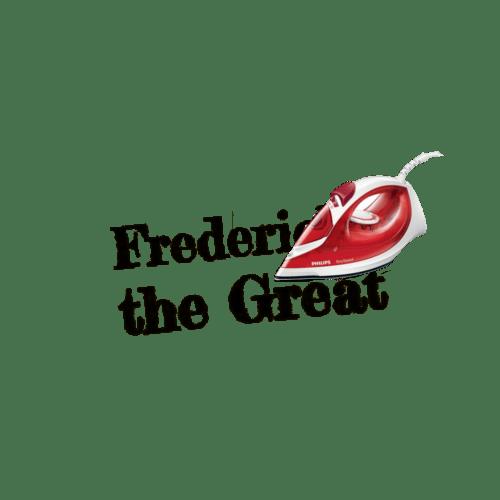 """Wunschtext """"Fredericka the Great"""" als Bügelschrift"""