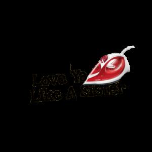 """Wunschtext """"Love Ya Like A Sister"""" als Bügelschrift"""