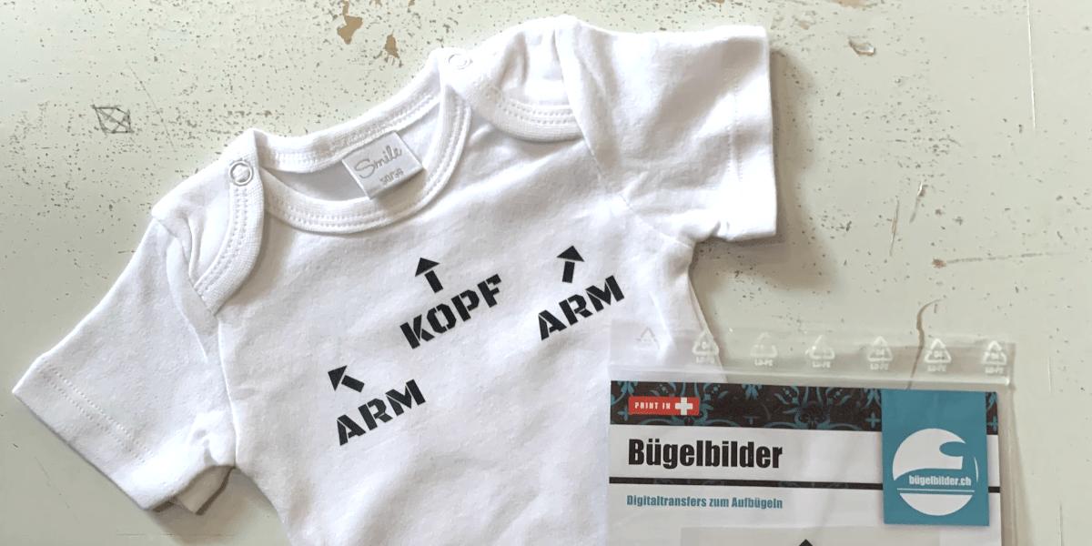 Finde passende Bügelmotive zur Geburt für Babybodies.